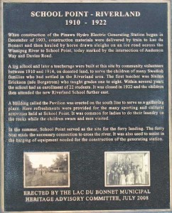 Cairn Plaque at School Point
